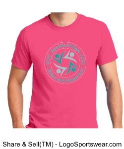 SCCC/LCCC Crew Neck T-shirt (hot Pink) Design Zoom
